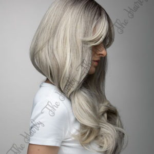 peruka z włosów syntetycznych blond balayage