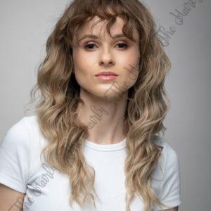 peruka syntetyczna blond ombre mokra włoszka