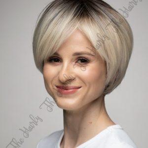 peruki syntetyczna krotki blond bob