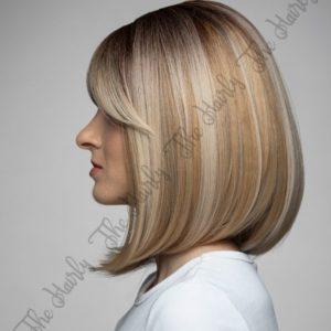 peruka syntetyczna blond bob z pasemkami