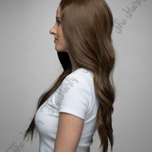 peruka syntetyczna front lace jasny braz