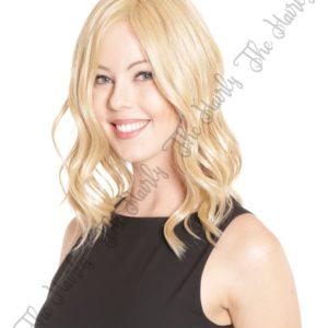 Tupet syntetyczny falowany ciepły blond lace front mono top 36cm - ręcznie szyty