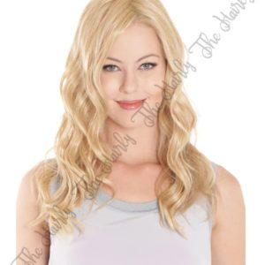 Tupet syntetyczny falowany ciepły blond lace front mono top 46cm - ręcznie szyty