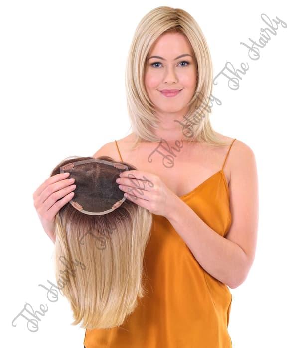 tupet syntetyczny blond z odrostem