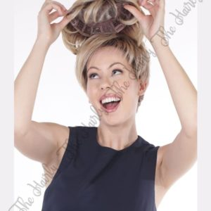 Tupet syntetyczny VOLUME mono top front lace vaniliowy blond z odrostem 15cm - ręcznie szyty