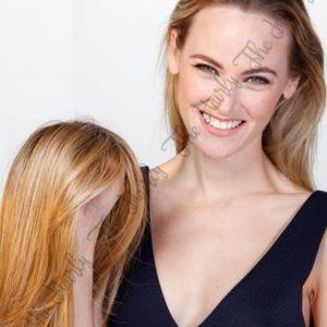 Tupet syntetyczny prosty lace front mono top 36cm - zagęszczenie włosów clip in