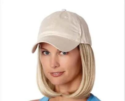 czapka z włosami henry margu blond