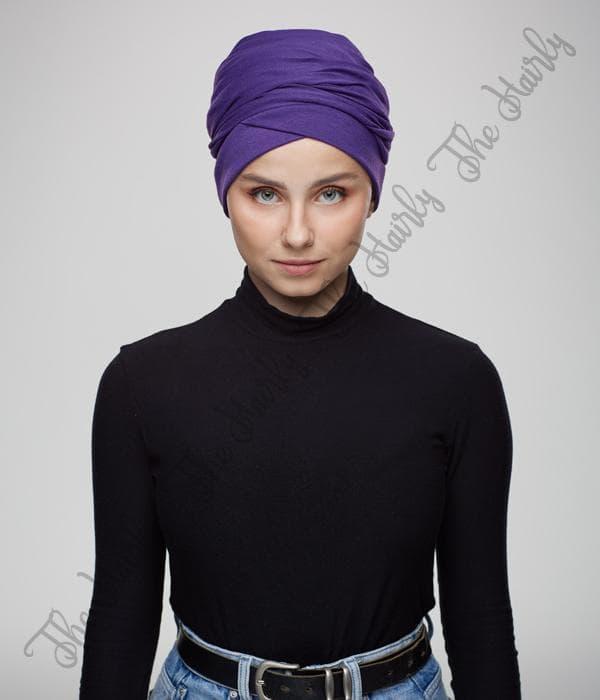 turban fioletowy