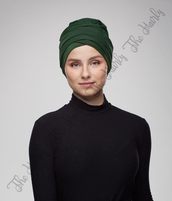 turban zielony