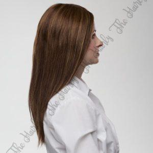 Peruka naturalna Sapphire   czepek mono top lace front 100% ręcznie tkany