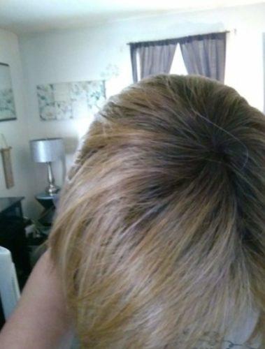 Tupet syntetyczny prosty lace front mono top 36cm - zagęszczenie włosów clip in photo review