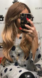 Peruka syntetyczna miodowy blond ombre falowane grzywka photo review