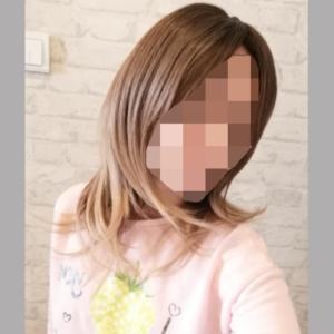 Peruka syntetyczna Ciemny blond z odrostem cieniowana grzywka photo review