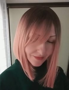 Peruka syntetyczna różowy blond z odrostem nowa kolekcja photo review